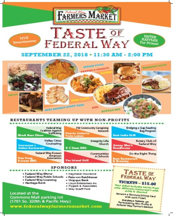 Federal Way Farmers Market: Taste of Federal Way